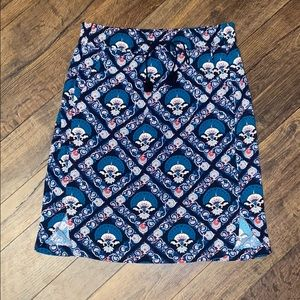 Loft Boho Print Skirt Sz XSP
